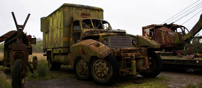 RAF Folkingham Vehicle Graveyard